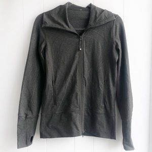Rare Lululemon In Stride Jacket Zip Up Gray Green